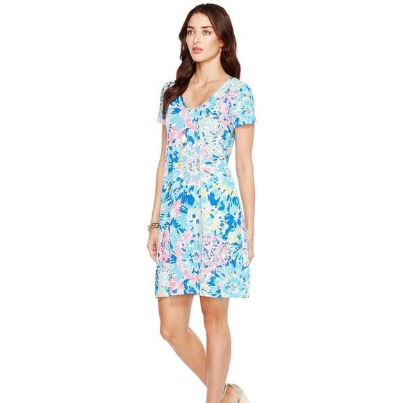 8b41c58b60b3f2 Lilly Pulitzer Dresses & Skirts - Lilly Pulitzer Jessica Short Sleeve Dress  Dive In
